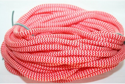 Climbing Cord Bianco-Rosso 5mm - 1mt