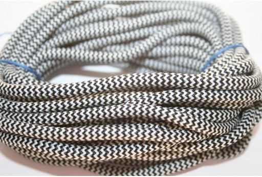 Climbing Cord Black-White 5mm -1mt