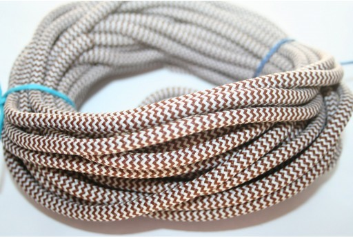 Climbing Cord Brown-White 5mm -1mt