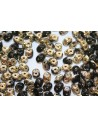 Superduo Beads Jet Amber 5x2,5mm -10gr