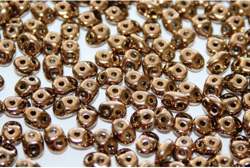 Superduo Beads Gold Bronze 5x2,5mm - 10gr
