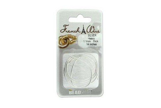 French Wire Silver Heavy 1,1mm - 14inches