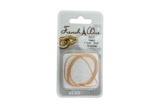French Wire Gold Heavy 1,1mm - 14inches