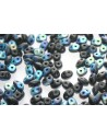 Superduo Beads Jet AB Matted 5x2,5mm - 10gr