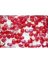 Superduo Beads Red AB Matted 5x2,5mm - 10gr