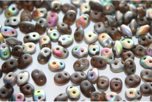 Superduo Beads Matte-Vitrail Smoky Topaz 5x2,5mm - 10gr