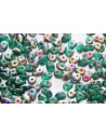 Superduo Beads Emerald Vitrail Matted 5x2,5mm - 10gr