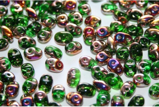 Superduo Beads Chrysolite Sliperit 5x2,5mm - 10gr