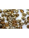 Superduo Beads Amber-Topaz 5x2,5mm - 10gr