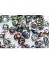 Superduo Beads Vitrail-Crystal 5x2,5mm - 10gr