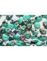 Perline Superduo Vitral-Green Turquoise 5x2,5mm - 10gr