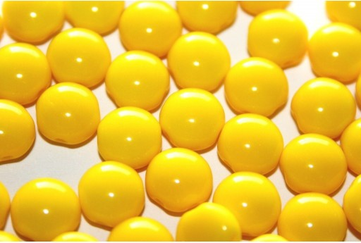 Preciosa Candy Beads Opaque Yellow 8mm - 30pcs