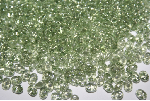 Perline Superduo Luster-Transparent Lt. Green 5x2,5mm - 10g