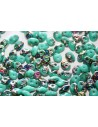 Superduo Beads Vitrail Green Turquoise 5x2,5mm - Pack 50gr