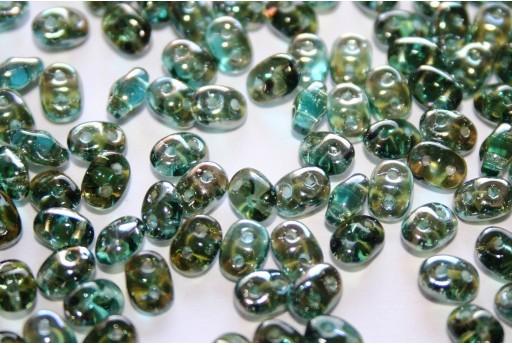 Perline Superduo Aquamarine-Celsian 5x2,5mm - 10gr