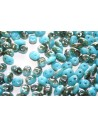Superduo Beads Turquoise Celsian 5x2,5mm - 10gr