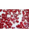 Superduo Beads Siam Ruby Vitrail Celsian 5x2,5mm - 10gr