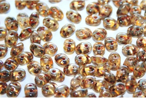 Superduo Beads Crystal Picasso 5x2,5mm - 10gr T00030