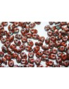 Superduo Beads Opaque Umber-Picasso 5x2,5mm - 10gr