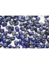 Superduo Beads Cobolt Picasso 5x2,5mm - 10gr