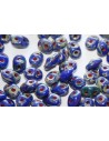 Superduo Beads Opaque Blue-Picasso 5x2,5mm - 10gr