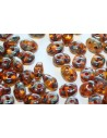 Superduo Beads Jonquile-Picasso 5x2,5mm - 10gr