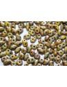 Superduo Beads Opaque Yellow-Picasso 5x2,5mm - 10gr