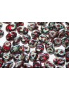 Superduo Beads Siam Ruby-Picasso 5x2,5mm - 10gr