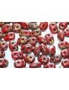Superduo Beads Opaque Red-Picasso 5x2,5mm - 10gr