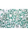 Superduo Beads Green Lined-Crystal 5x2,5mm - 10gr