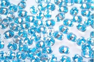 Perline Superduo Aqua Lined-Crystal 5x2,5mm - 10gr