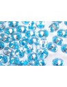Perline Superduo Aqua Lined-Crystal 5x2,5mm - 10gr