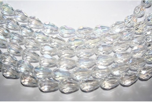 Chinese Crystal Beads Faceted Briolette Crystal AB 15x10mm - 25pcs
