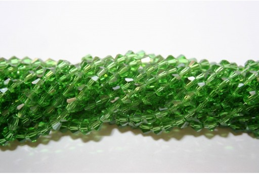 Chinese Crystal Beads Bicone Green 4mm - 110pcs