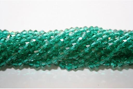 Cristallo Cinese Bicono Verde Scuro 4mm - 110pz
