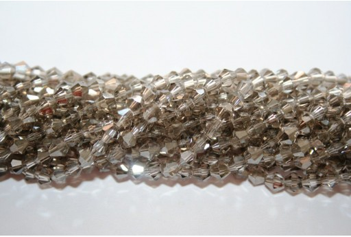 Chinese Crystal Beads Bicone Grey 4mm - 110pcs