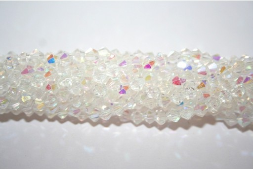 Chinese Crystal Beads Bicone Crystal AB 4mm - 110pcs