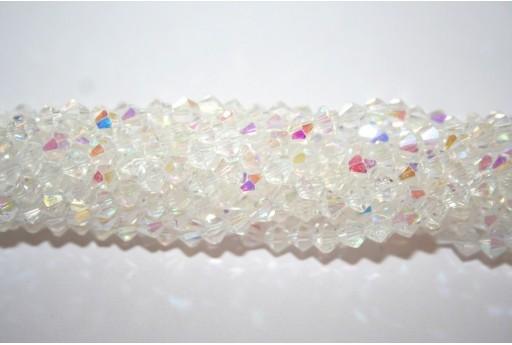 Cristallo Cinese Bicono Crystal AB 4mm - 110pz