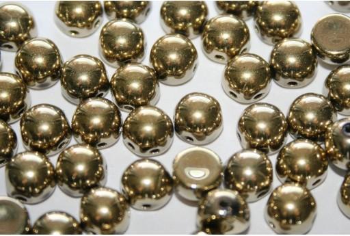 Bead Cabochon 2 Hole Crystal Full Amber 6mm - 20pcs