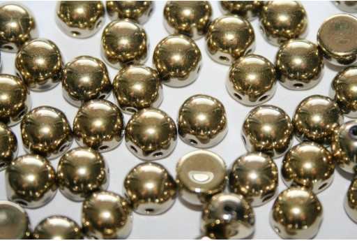 Cabochon 2 Fori Crystal Full Amber 6mm - 20pz