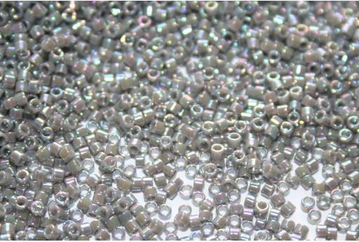 Miyuki Delica Beads Opaque Grey AB 11/0 - 8gr