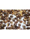 Superduo Luster Bronze 1/2 Topaz 5x2,5mm - 100gr