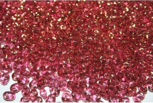 Superduo Luster Pink 5x2,5mm - Pack 100gr