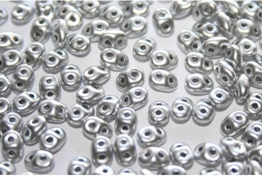 Superduo Beads Matte Metallic Dural 5x2,5mm - 10gr