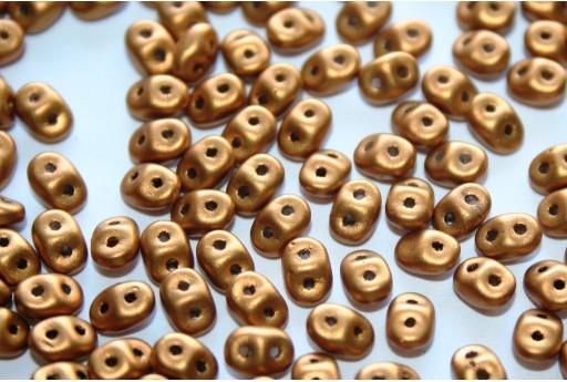 Perline Superduo Matte Metallic Goldenrod 5x2,5mm - 10gr