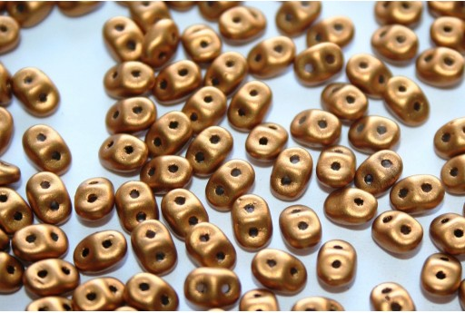 Superduo Beads Matte Metallic Goldenrod 5x2,5mm - 10gr