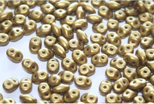 Superduo Beads Matte Metallic Aztec Gold 5x2,5mm - 10gr