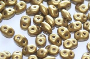 Perline Superduo Matte Metallic Aztec Gold 5x2,5mm - 10gr