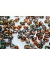 Superduo Beads Magic Line Copper 5x2,5mm - 10gr