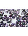 Superduo Beads Magic Line Purple 5x2,5mm - 10gr
